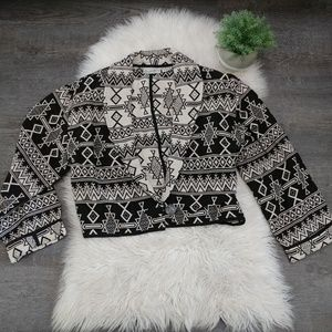 Vintage Tribal/Aztec Crop Jacket